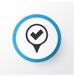 Yes mark icon symbol premium quality isolated vector