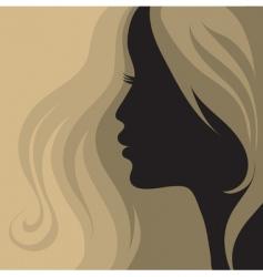 closeup vintage woman vector image vector image