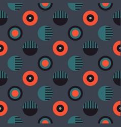 geometric wheels symmetry seamless pattern vector image