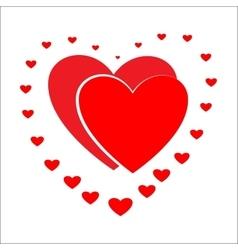 Heart couple t shirt vector image