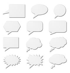 White speech bubble cards vector