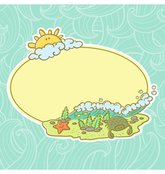 background with summer beach vector image vector image