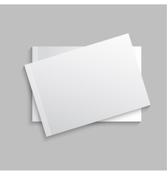 Blank empty magazine vector