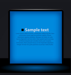 blue light box vector image vector image