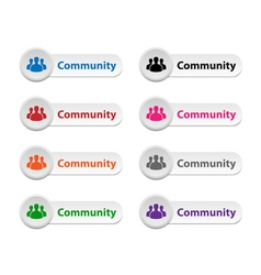 Community buttons vector image