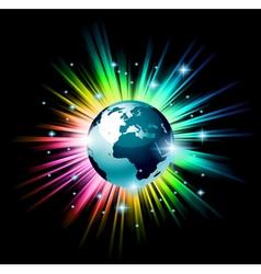 earth globe 3d vector image vector image