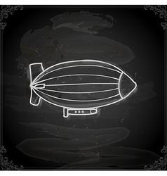 Hand Drawn Zeppelin vector image vector image
