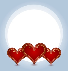 hearts composition vector image vector image
