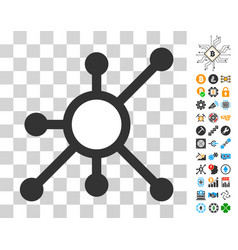 node icon with bonus vector image vector image
