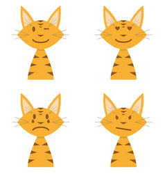 orange cat emoji vector image