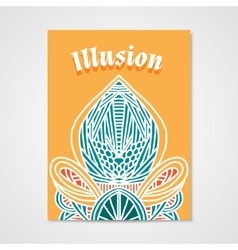 Poster whit hand drawn abstract pattern vector image vector image