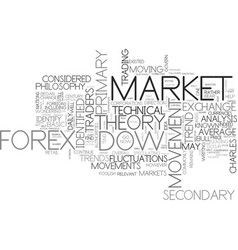What is dow theory text word cloud concept vector