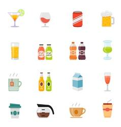 Beverage icon full color flat icon design vector image vector image