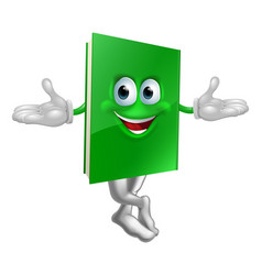 cartoon book mascot vector image vector image