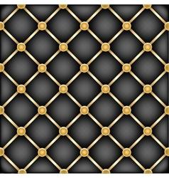 golden black leather furniture texture vector image
