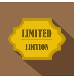 Golden limited edition label icon flat style vector image vector image