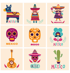 Mexican cards vector