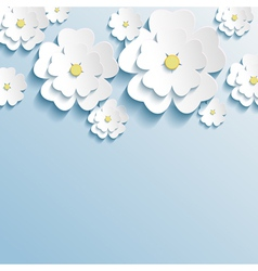 Stylish wallpaper with 3d flowers sakura blossom vector image vector image