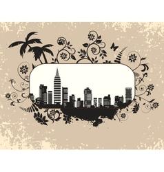 The citys skyline vector image