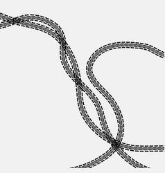 three tire tracks vector image vector image