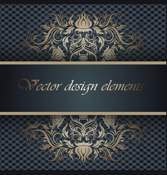 background with lace ornament and place for text vector image vector image