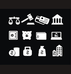 economy icon sets images vector image vector image