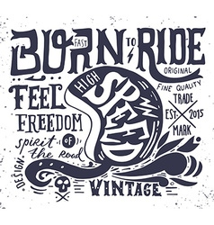 Hand drawn grunge vintage with hand lettering and vector image