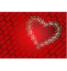 heart frame background vector image