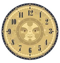 Vintage Clock Face vector image vector image