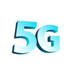 5g wireless technology 3d symbol conception vector