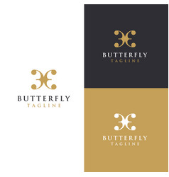 abstract wing butterfly logo icon template vector image