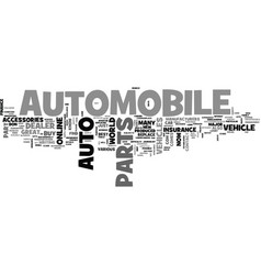 Advance auto parts for your vehicles text word vector