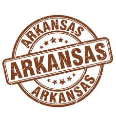 Arkansas brown grunge round vintage rubber stamp vector