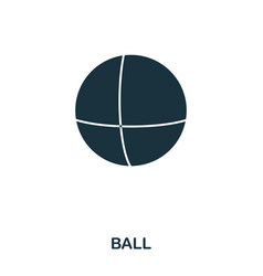 Ball icon mobile apps printing and more usage vector