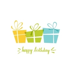 Birthday card gift card gifts ideal for vector