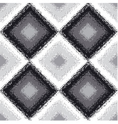 Black and white rhombus carpet seamless pattern vector
