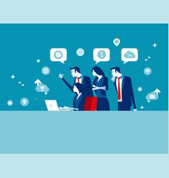 business digital marketing team concept business vector image