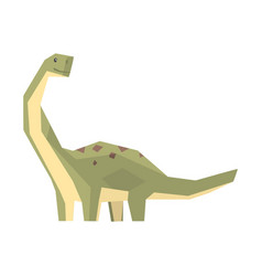 cartoon hypsilophodon dinosaur character jurassic vector image