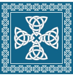 Celtic cross ornament symbolizes eternity vector