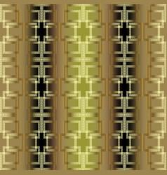 checkered ornate greek key meander 3d seamless vector image