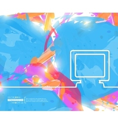 Creative monitor Art template vector image