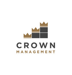 Crown with chart bar for business logo design vector