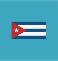 Cuba flag icon in flat design vector