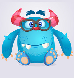 Cute cartoon monster gremlin vector