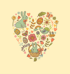 Cute easter festive banner vector