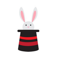 cute rabbit in a magic hat vector image