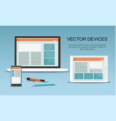 Devices responsive web design vector