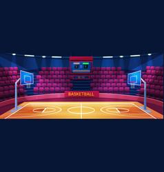 empty basketball arena sport stadium vector image