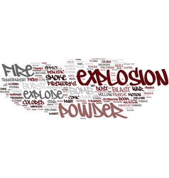 Explosion word cloud concept vector