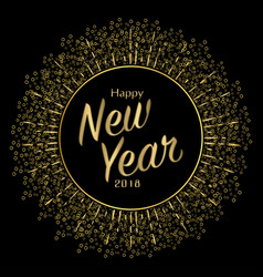 Golden card new year vector